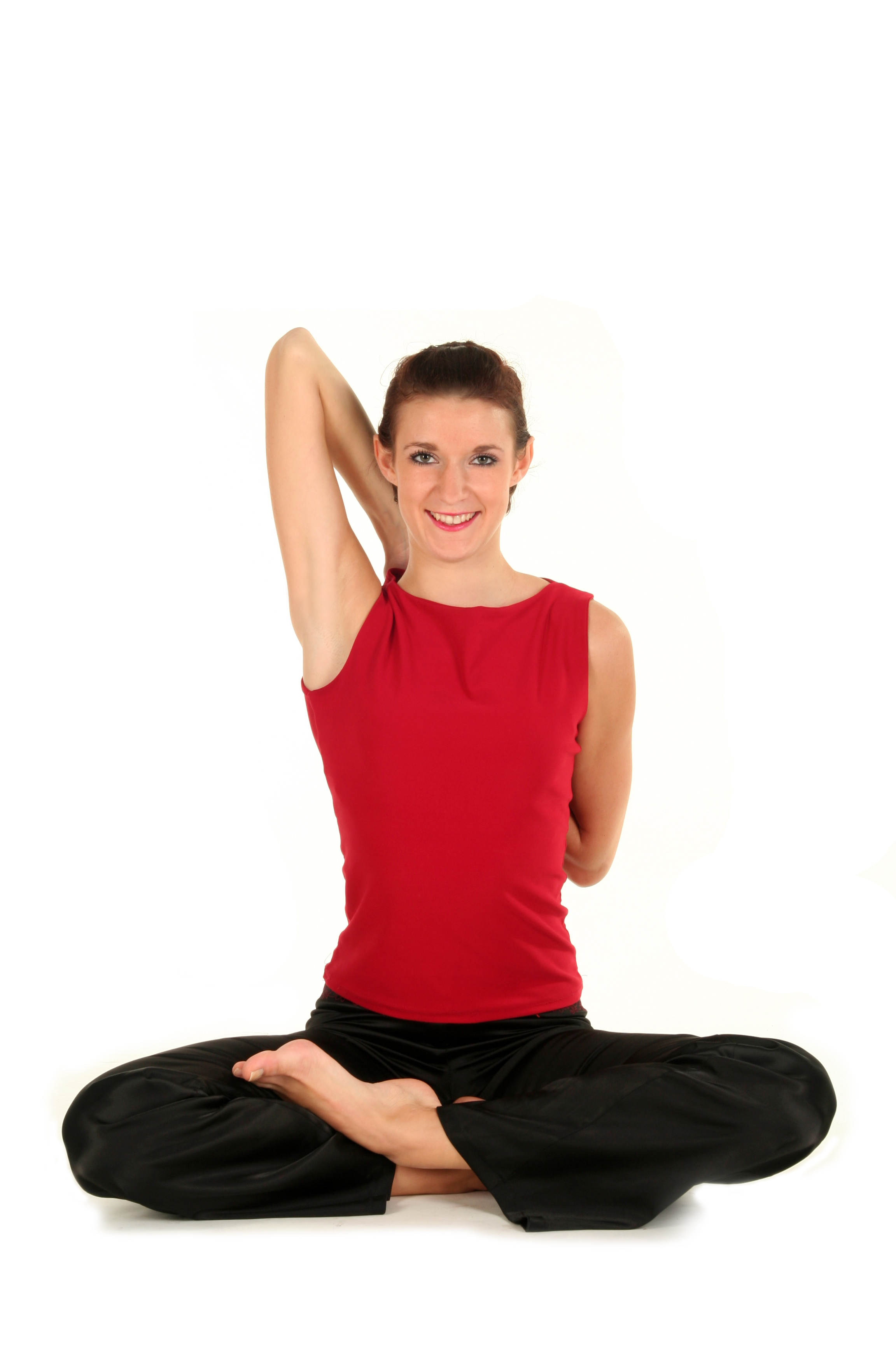 Занятия с йога колесом